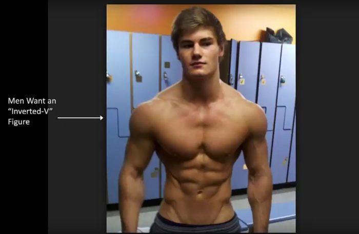 V shaped male body