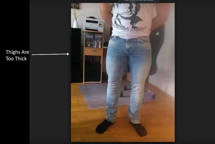 male legs that are too thick