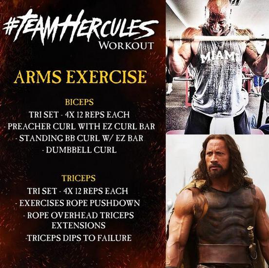 Rock S Hercules Workout Arms
